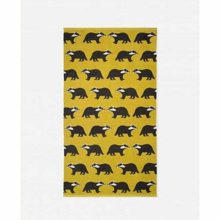 Anorak Kissing Badgers Bath Towel Only 163 28 50