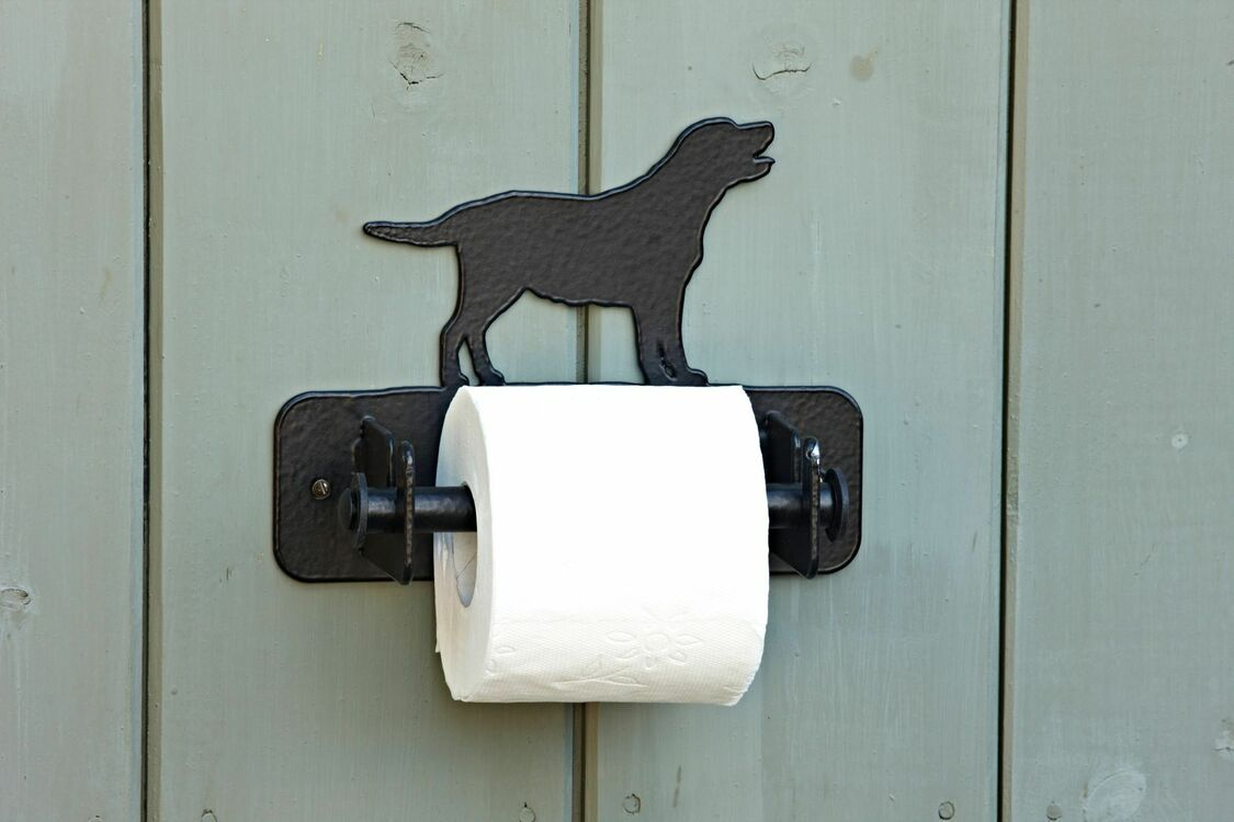 Wall mounted labrador toilet roll holder additional 2