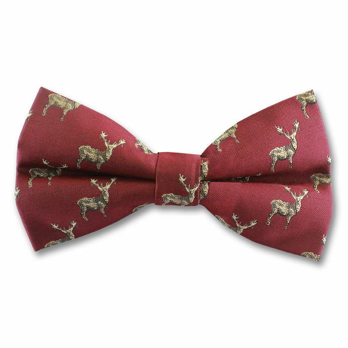 dac4ebd5338 Wine Stag Bow Tie