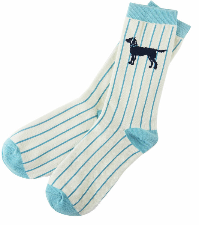 a587df33273 Hatley Labradors on Stripe Women s Crew Socks only £6.50