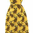 Soprano Yellow Pair of Standing Pheasants Silk Tie additional 2