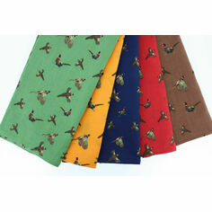 Soprano 5 Colourful Luxury Pheasant Handkerchiefs