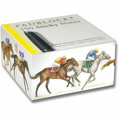 Sticky Message Pad - Horse Racing