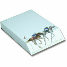 Slant Message Pad - Horse Racing
