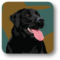 Black Labrador Single Coaster