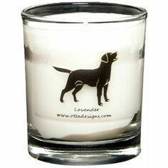 Glass Black Labrador Scented Candle
