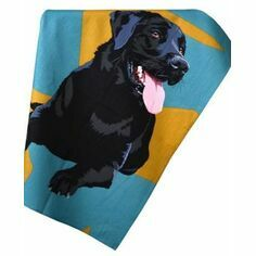 Black Labrador Tea Towel