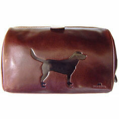 Leather Wash Bag - Labrador