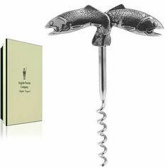 English Pewter Corkscrew - Fish Design