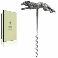 English Pewter Corkscrew - Fox Design