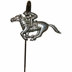 Pewter Racehorse & Jockey Bookmark