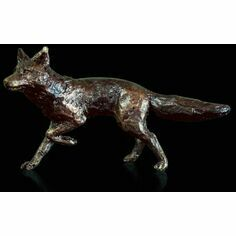 Richard Cooper Miniature Solid Bronze Fox