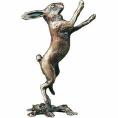 Richard Cooper Miniature Solid Bronze Boxing Hare