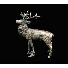 Richard Cooper Miniature Solid Bronze Stag