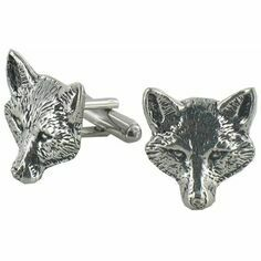 Pewter Fox Cufflinks