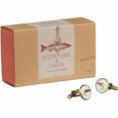 Wild & Wolf Hook Line & Sinker Fishing Flies Cufflinks