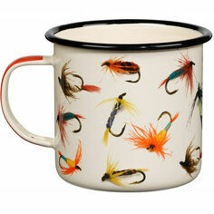 Fishing Flies Enamel Mug