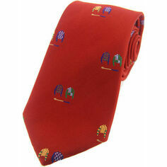 Woven Silk Jockey Silks Tie - Red