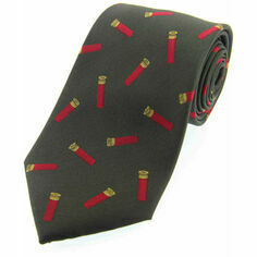 Green Woven Silk Tie with Cartridge Design