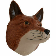 Quail Ceramics Fox Head Wall Vase