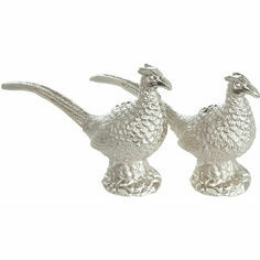 Culinary Concepts Silver Plated Pheasant Salt and Pepper Shaker Set