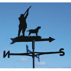 Shooting With One Labrador Weathervane