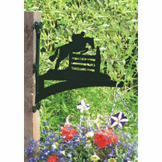Horse Jumping Hanging Basket Bracket