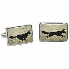 Tyler & Tyler Running Fox cufflinks