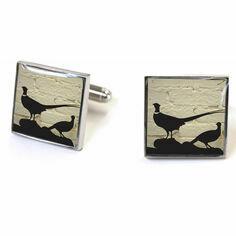 Pheasant cufflinks