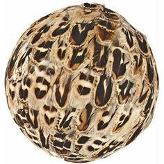 Hen Pheasant Feather Decorative Ball