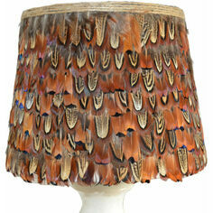 Large Cock Pheasant Feather Lampshade