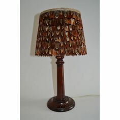 Small Cock Pheasant Feather Lampshade