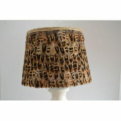Large Hen Pheasant Feather Lampshade