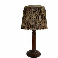 Small Hen Pheasant Feather Lampshade
