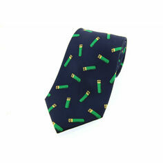 Soprano Navy Blue Gun Cartridges Silk Tie