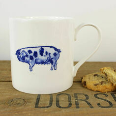 Lucy Green Pig Mug
