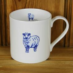Lucy Green Sheep Mug
