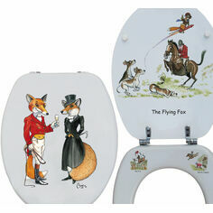 Looprints Mr and Mrs Fox Printed Wooden Loo Seat