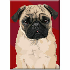 Leslie Gerry Pug Fridge Magnet