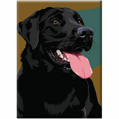 Leslie Gerry Black Labrador Fridge Magnet