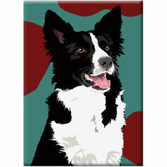 Border Collie Fridge Magnet
