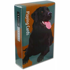 Black Labrador Playing Cards