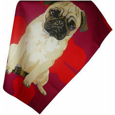 Leslie Gerry Pug Tea Towel