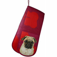 Leslie Gerry Pug Double Oven Gloves