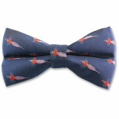 Mag Mouch Navy Pheasant Bow Tie