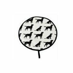 Black Labrador Hob Cover