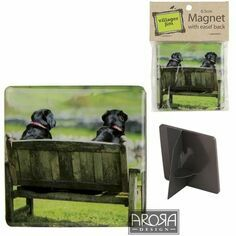Two Labs Sitting Fridge Magnet