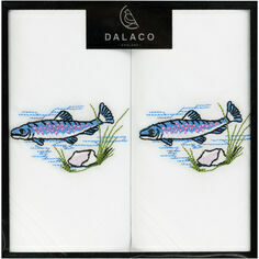 Pair of Embroidered Fishing Handkerchiefs