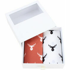 Pair of Red & White Cotton Stag Handkerchiefs