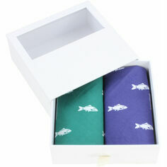 Pair of Green & Blue Fish Cotton Handkerchiefs